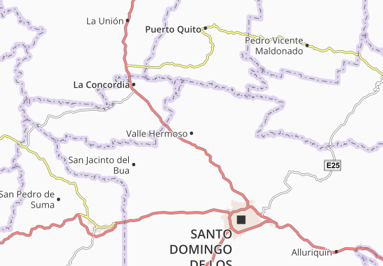 Valle Hermoso Map