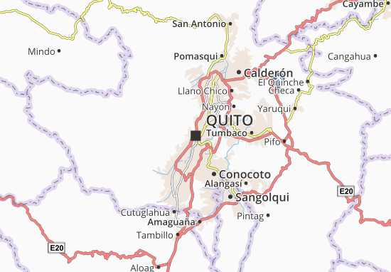 Quito Map: Detailed maps for the city of Quito - ViaMichelin on