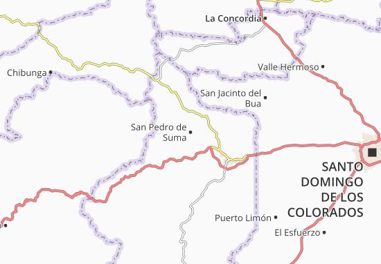 Karte Stadtplan San Pedro de Suma