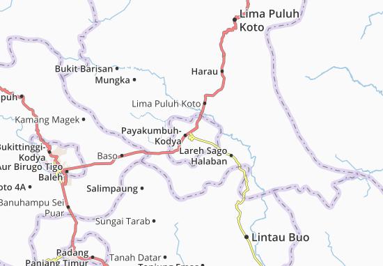 Carte-Plan Payakumbuh