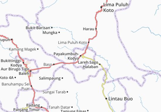 Carte-Plan Payakumbuh-Kodya
