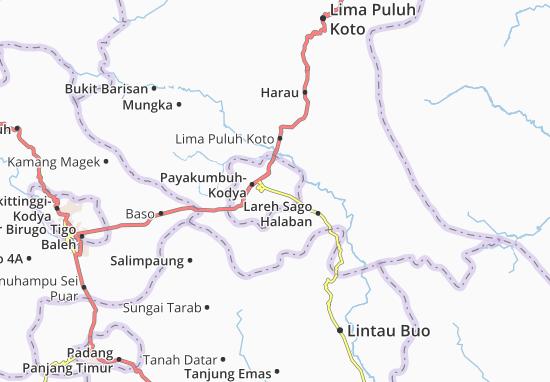 Carte-Plan Payakumbuh Timur