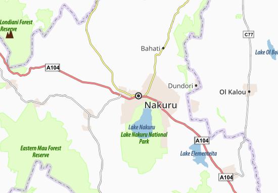 Mapa Plano Nakuru