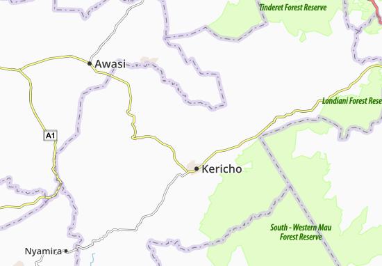 Ainamoi Map