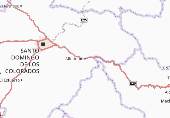 Alluriquín Map