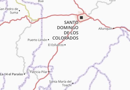 Karte Stadtplan El Esfuerzo