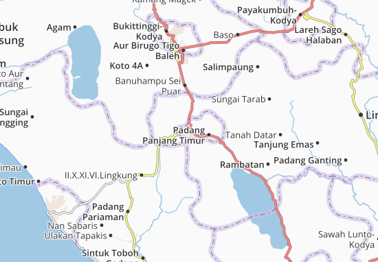Carte-Plan Padang Panjang-Kodya