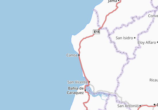 Karte Stadtplan Canoa