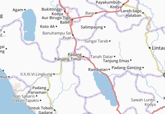 Carte-Plan Padang Panjang Timur