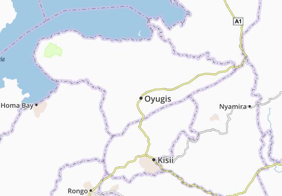 Mapa Plano Oyugis