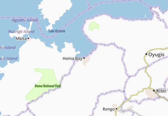 Kaart Plattegrond Homa Bay