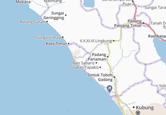 Carte-Plan Pariaman Selatan
