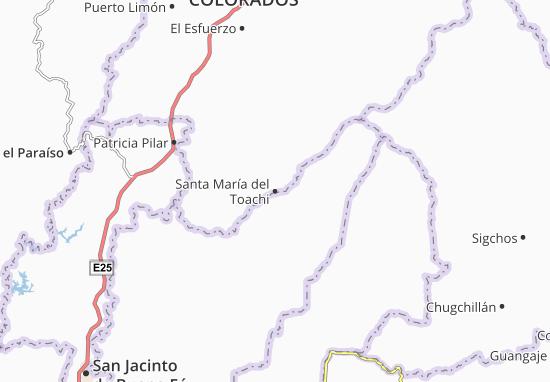 Carte-Plan Santa María del Toachi