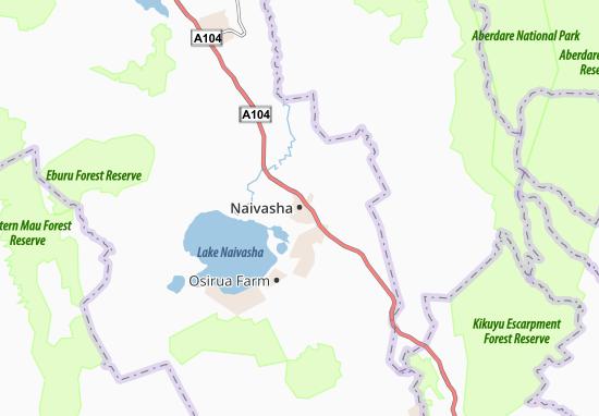 Mapa Plano Naivasha