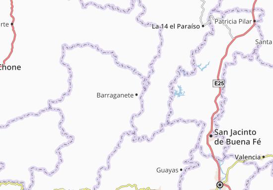Karte Stadtplan Barraganete