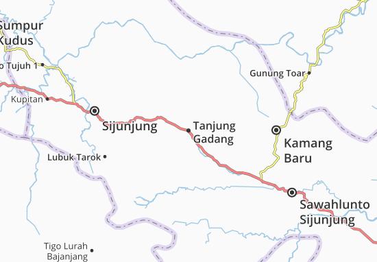 Kaart Plattegrond Tanjung Gadang