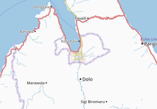 Carte-Plan Kota Palu