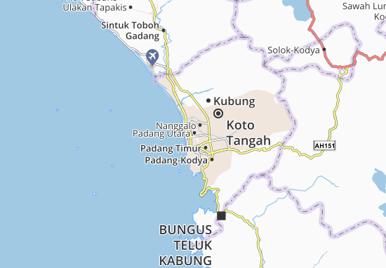 Carte-Plan Padang Utara