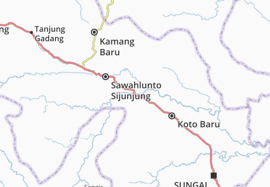 Kaart Plattegrond Sawahlunto Sijunjung