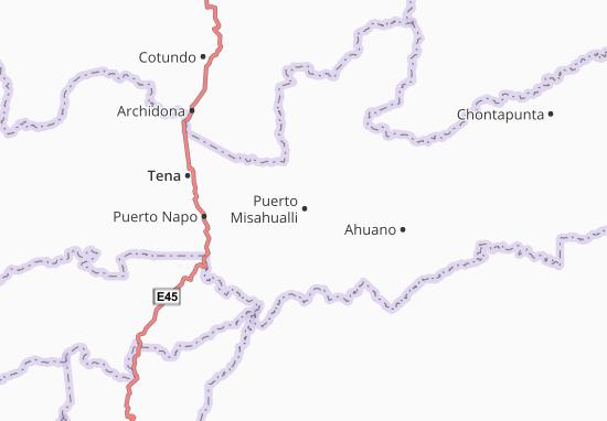 Kaart Plattegrond Puerto Misahualli