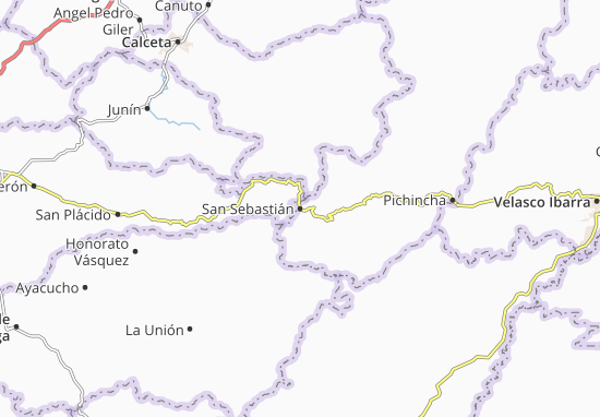 Kaart Plattegrond San Sebastián