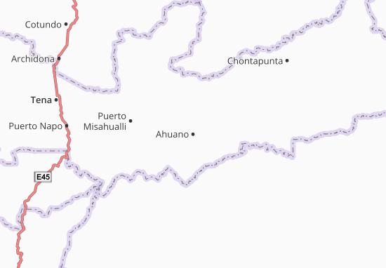 Ahuano Map