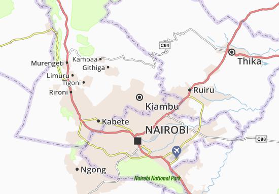 Mapa Plano Kiambu