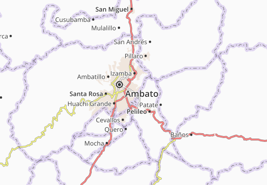 Karte Stadtplan Picaigua