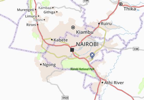 Kaart Plattegrond Nairobi