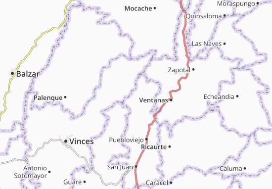 Carte-Plan Puerto Pechiche