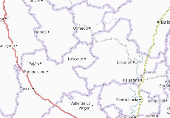 Karte Stadtplan Lascano