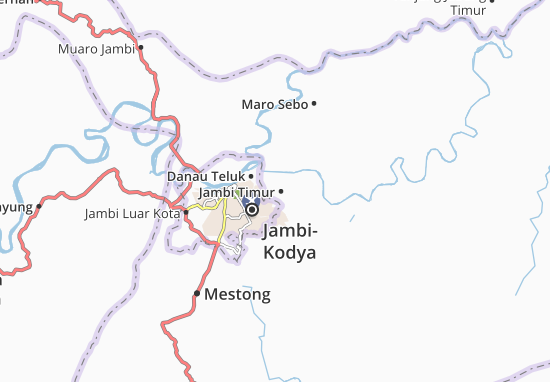 Kaart Plattegrond Jambi Timur