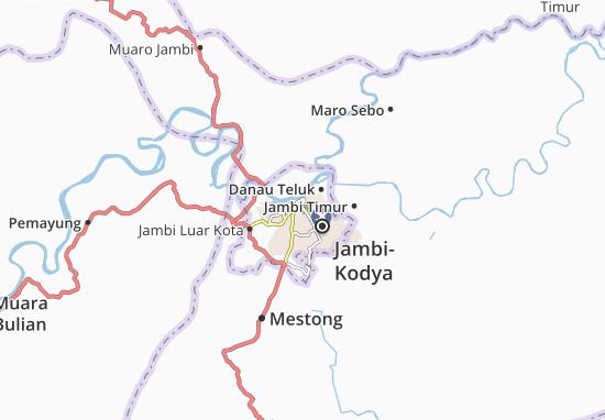 Kaart Plattegrond Telanaipura