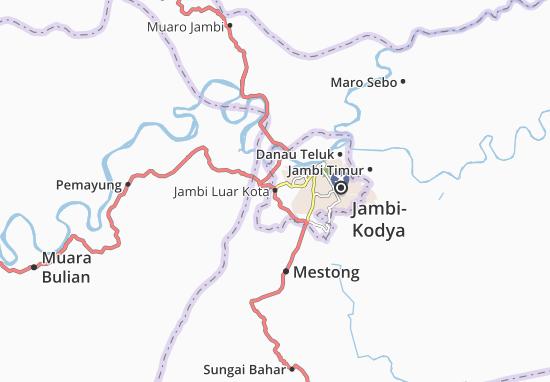 Kaart Plattegrond Jambi Luar Kota
