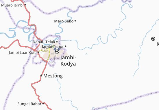 Kaart Plattegrond Muaro Jambi