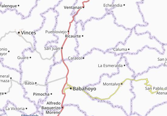 Karte Stadtplan Caracol