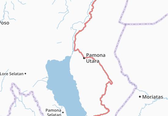 Carte-Plan Pamona Utara
