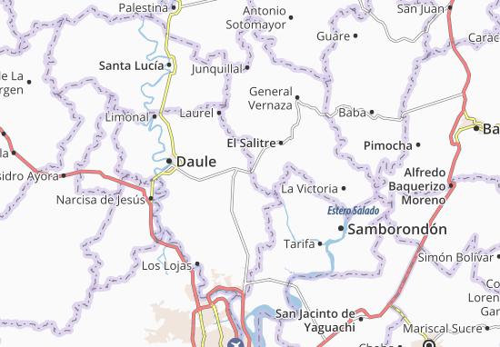 Kaart Plattegrond Juan Bautista Aguirre