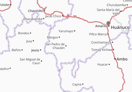 Kaart Plattegrond San Pedro de Chaulán