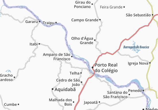 São Brás Map