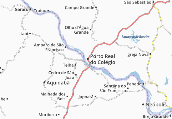 Porto Real do Colégio Map