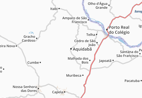 Aquidabã Map