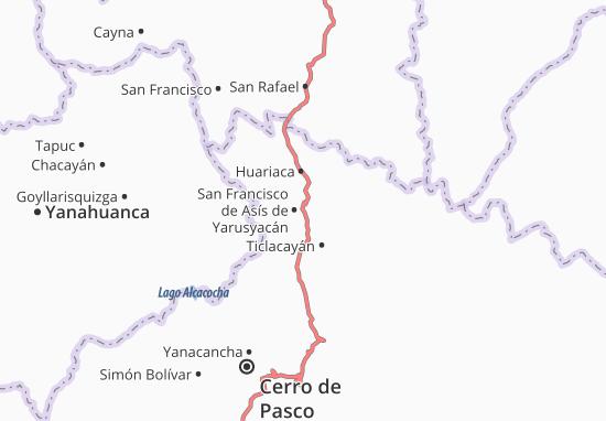 San Francisco de Asís de Yarusyacán Map
