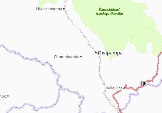 Oxapampa Peru Map.Chontabamba Map Detailed Maps For The City Of Chontabamba Viamichelin