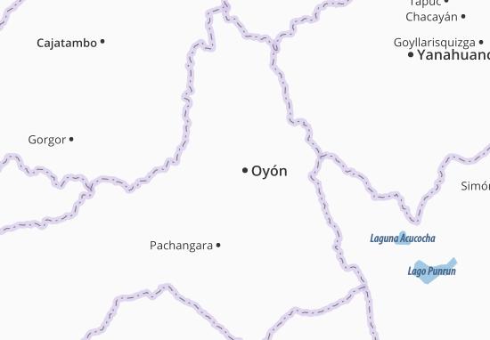 Kaart Plattegrond Oyón