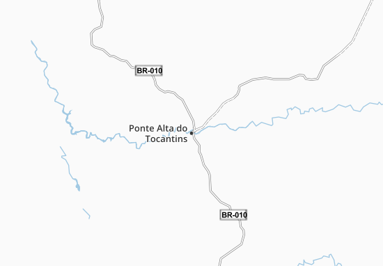 Carte-Plan Ponte Alta do Tocantins