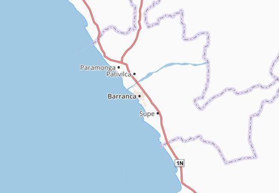 Kaart Plattegrond Barranca