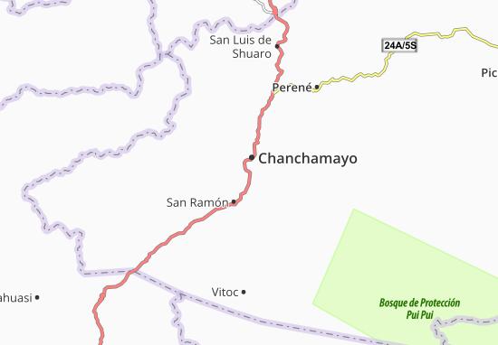 Kaart Plattegrond Chanchamayo