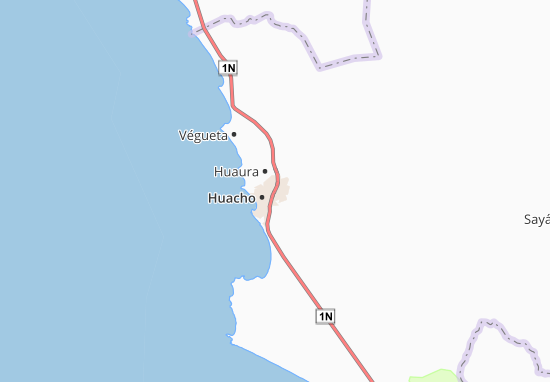 Kaart Plattegrond Santa María