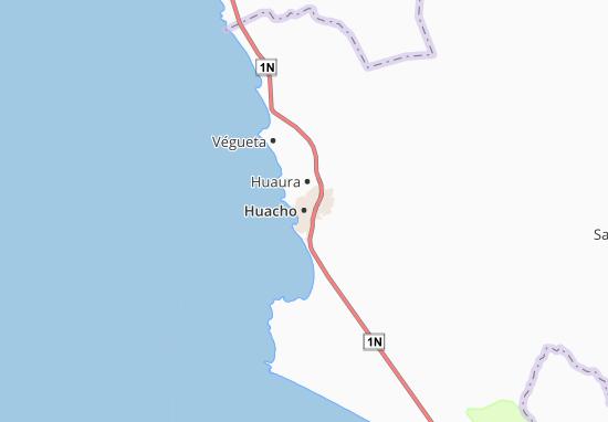 Kaart Plattegrond Huacho